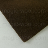 фетр 3мм 45см*50см полиэстер темно коричневый