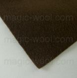 фетр 3мм 75см*50см полиэстер темно коричневый