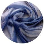 шарфы шелковые окрашенные однотонные и с переходами синий