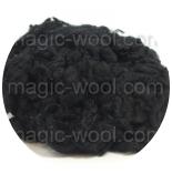 кудри окрашенные флис для фактуры черный