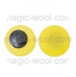 глазки для игрушек подвижные желтые 12мм