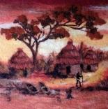 книги и мастер классы руководство по валянию картины из шерсти Африканский пейзаж