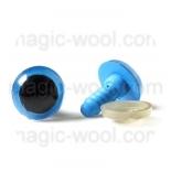 глазки для игрушек синие 12мм