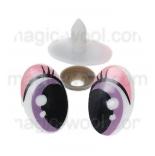 глазки для игрушек мультипликационные 25мм*16мм