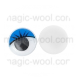 глазки для игрушек подвижные цветные синие 10мм