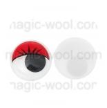 глазки для игрушек подвижные цветные красные 10мм