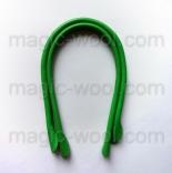 кожаные ручки для сумок светло зеленый 40см сплит кожа