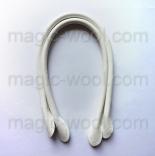 кожаные ручки для сумок белые 40см сплит кожа