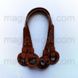 кожаные ручки для сумок верблюд с люверсами 40-55см pu leather