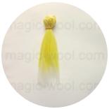 волосы для кукол желтые с белыми концами