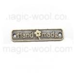 подвески металлические прямоугольная hand made 24мм*5мм античная бронза
