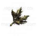 подвески металлические кленовый лист 54мм*46мм античная бронза