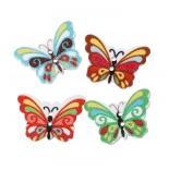 пуговицы декоративные бабочка мультиколор