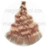 волосы для кукол светло розовые волнистые