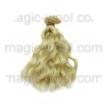 волосы для кукол волнистые блонд 15см