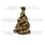 волосы для кукол волнистые русые 15см