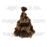 волосы для кукол волнистые темно русые 15см