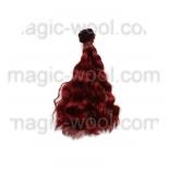 волосы для кукол волнистые рубин 15см