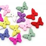 пуговицы декоративные бабочка цветная