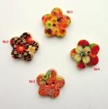 пуговицы декоративные цветок с принтом