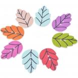 пуговицы декоративные яркий лист