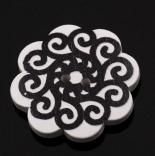 пуговицы декоративные черно белый ажур