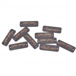 бирки, ярлыки, наклейки коричневая деревянная 10мм*30.5мм