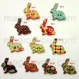 пуговицы декоративные заяц с принтом
