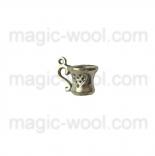 подвески металлические чашка 3D 10мм*15мм серебро