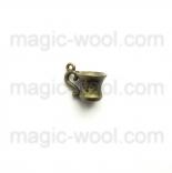 подвески металлические чашка 3D 10мм*15мм античная бронза