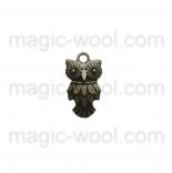 подвески металлические сова 20мм*10мм античная бронза
