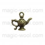подвески металлические лампа аладдина 19мм*20мм античная бронза 3D
