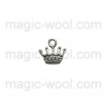 подвески металлические корона 13мм*13мм старинное серебро