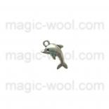 подвески металлические дельфин 20мм*11мм старинное серебро
