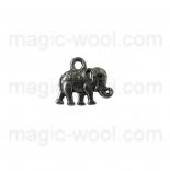 подвески металлические слон 11мм*12мм старинное серебро