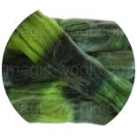 Омбрия - шерсть секционного крашения для валяния, вязания и прядения цвет №2