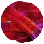 Омбрия - шерсть секционного крашения для валяния, вязания и прядения цвет №4
