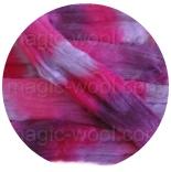 Омбрия - шерсть секционного крашения для валяния, вязания и прядения цвет №8