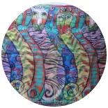 шифоновый шарф с рисунком 167см*50см цвет 001