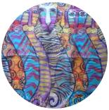 шифоновый шарф с рисунком 167см*50см цвет 002