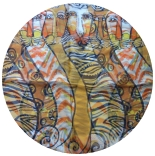 шифоновый шарф с рисунком 167см*50см цвет 003