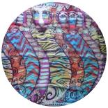 шифоновый шарф с рисунком 167см*50см цвет 005