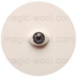 глазки для игрушек акриловые реалистичные темно серые 15мм*10мм