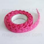 кружево самоклеящееся хлопковое кружево ярко розовое