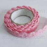 кружево самоклеящееся хлопковое розовое №1
