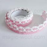кружево самоклеящееся хлопковое розовое №3