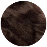 акрил для валяния и прядения темно коричневый