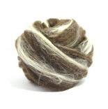 меринос натуральный (merino) + бленды меринос натурально коричневый с шелком tussah