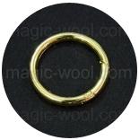 Крепления, соединительные элементы, рамки, кольца и т. д. кольцо разъемное 25мм золото
