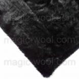 мех для игрушек мохер 9мм черный
